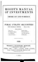 Moody S Manual Of Investments American And Foreign