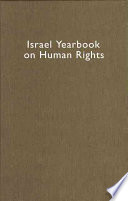 Israel Yearbook on Human Rights 2005