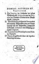 Vier nützliche Chymische Tractat Vom Stein der Weisen