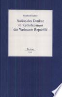 Nationales Denken im Katholizismus der Weimarer Republik