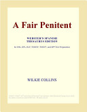 A Fair Penitent (Webster's Spanish Thesaurus Edition)