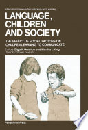 Language  Children and Society