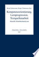 Kompetenzorientierung, Lernprogression, Textquellenarbeit