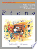 Alfred s Basic Piano Library  Sight Reading Book Complete Level 1  1A 1B