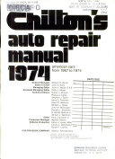 Chilton S Auto Repair Manual 1974