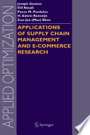 Applications of Supply Chain Management and E Commerce Research