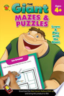 Giant  Mazes   Puzzles Activity Book  Ages 4   5