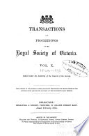 Transactions and Proceedings of the Royal Society of Victoria During the Years    Book PDF