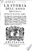 La storia dell anno MDCCXLIX