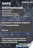 Advances in Human Aspects of Transportation  Part II