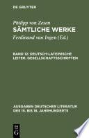 Deutsch-lateinische Leiter. Gesellschaftsschriften