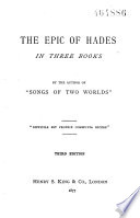 The Epic Of Hades In Three Books