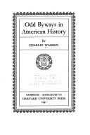Odd Byways in American History.(2. Print.)
