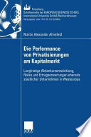 Die Performance von Privatisierungen am Kapitalmarkt
