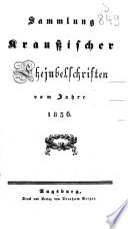 Sammlung Kraußischer Ehejubelschriften vom Jahre 1836