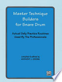 Master Technique Builders For Snare Drum