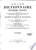 Grand dictionnaire fran  ais italien
