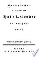 Gothaischer genealogischer Hofkalender nebst diplomatisch-statistischem Jahrbuche ...