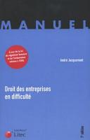 Droit Des Entreprises En Difficult