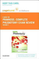 Complete Phlebotomy Exam Review Pageburst E book on Vitalsource Retail Access Card
