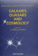 Galaxies, Quasars, and Cosmology
