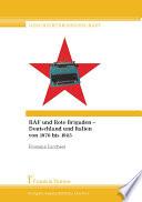 RAF und Rote Brigaden   Deutschland und Italien von 1970 bis 1985