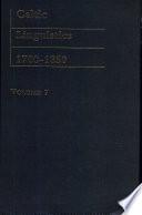 Celtic Linguistics, 1700-1850: pt. 3. The history of the Celtic language