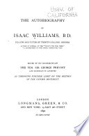 The Autobiography of Isaac Williams, B. D.