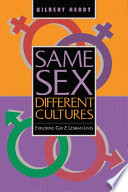 Same Sex Different Cultures book