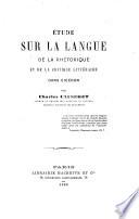 Étude sur la langue de la rhétorique et de la critique littéraire dans Cicéron