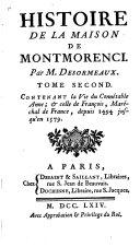 Histoire de la maison de Montmorenci