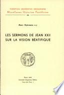 illustration Les sermons de Jean XXII sur la vision béatifique