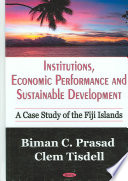 Institutions  Economic Performance and Sustainable Development