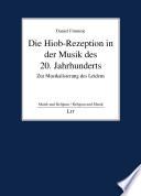 Die Hiob-Rezeption in der Musik des 20. Jahrhunderts
