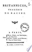 Britannicus  tragedie de Racine