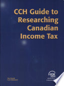 cch guide to researching canadian income tax
