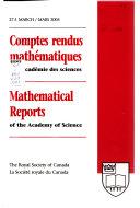 Comptes Rendus Math  matiques de L Acad  mie Des Sciences
