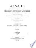 Annales du Mus  e d histoire naturelle de Marseille  pub  aux frais de la ville