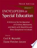 Encyclopedia of Special Education