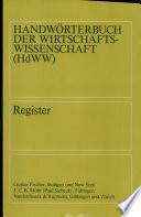 Handwörterbuch der Wirtschaftswissenschaft