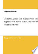 Gezielter Abbau von aggressivem und depressivem Stress durch verschiedene Sportaktivitäten
