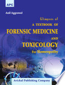APC Glimpses of A Textbook of Forensic Medicine and Toxicology For Homeopathy   Avichal Publishing Company