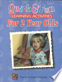 Quick   Fun Learning Activities for 2 Year Olds Book PDF