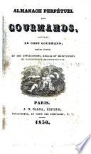 Almanach perpétuel des gourmands