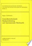 Grenzüberschreitende Buchpreisbindung und internationaler Buchmarkt