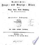 W  chentliches Nachrichts   Frage  und Anzeige Blatt der K  niglich Bayerischen Stadt Weissenburg in Mittelfranken