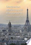 Tourism Destination Marketing and Management