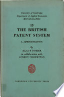 The British Patent System I Administration