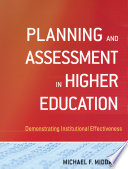 Planning and Assessment in Higher Education