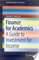 Finance for Academics